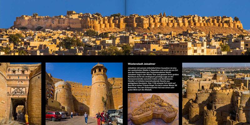 Bildband Rajasthan, Reisefuehrer, Reisebildband, Raimund Franken, Jaiselmer mit seiner intakten Stadtmauer