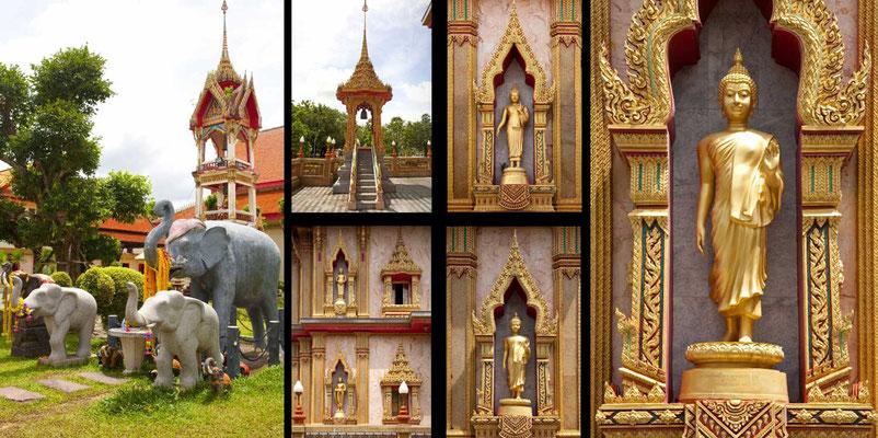 Bildband Suedthailand, Thailand, Raimund Franken, Pagode am Wat Chalong Tempel auf Phuket