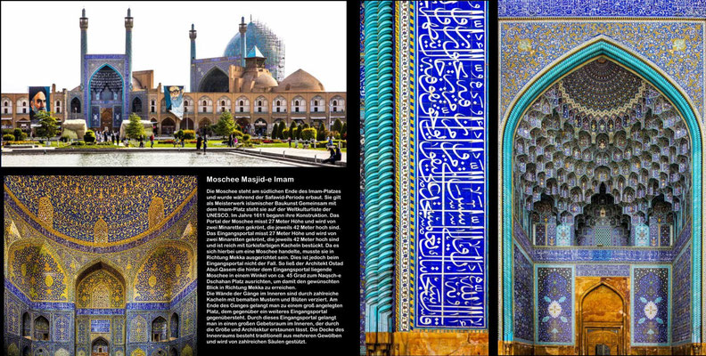 Bildband Iran, Reisefuehrer, travel guide, Reisebildband, Raimund Franken, Moschee Masjid-e Imam, Isfahan