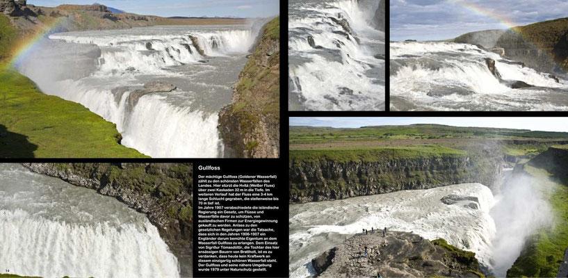 Island, Iceland, Bildband,  Reisebildband, Reisefuehrer, Guide, Raimund Franken, Gullfoss - einer der schoensten Wasserfaelle Islands