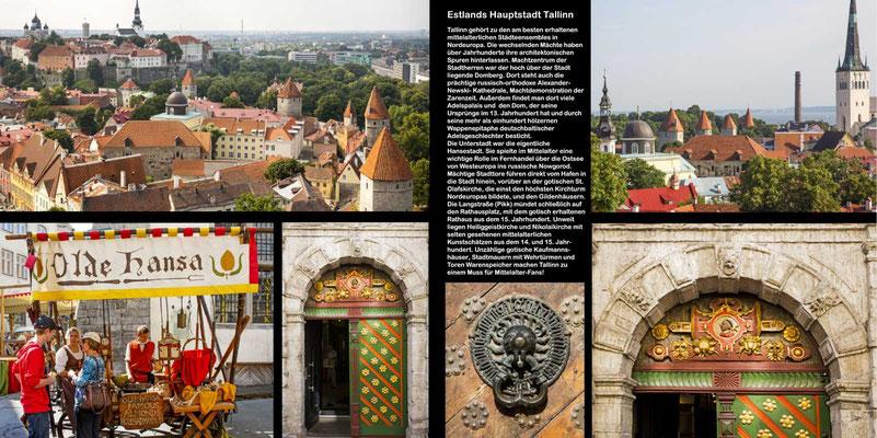 Bildband Baltikum, Estland, Lettland, Litauen, Raimund Franken, mittelalterliche Perle Tallinn - Haupstadt Estlands