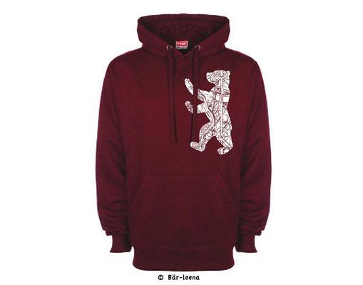 Berliner Bär Hoodie - Rot
