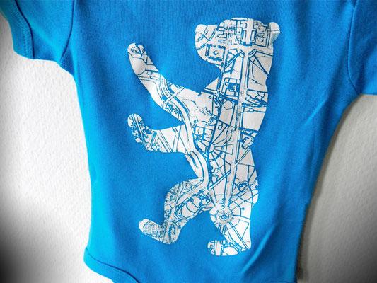 Berliner Bär Strampler in blau