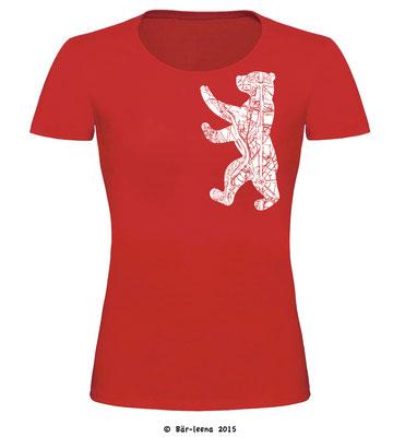 Berliner Bär T-Shirt - rot