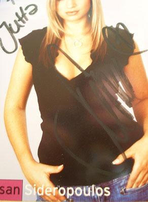 Susan Sideropoulos - Autogramm für Jutta Rudolph
