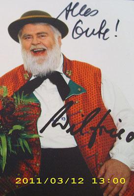Wildecker Herzbuben - Autogramm für Jutta Rudolph