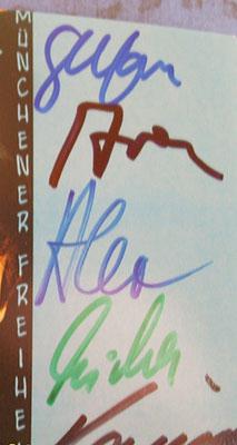 Münchener Freiheit - Autogramm für Jutta Rudolph