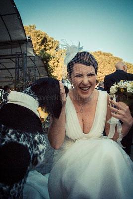 sposa con cane wedding dog roma tenuta sant' eusebio