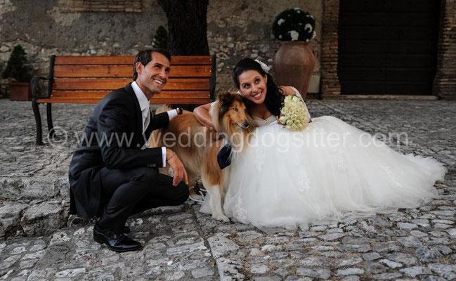 CANE AL MATRIMONIO WEDDING DOGSITTER ROMA CASTELLO ORSINI NEROLA