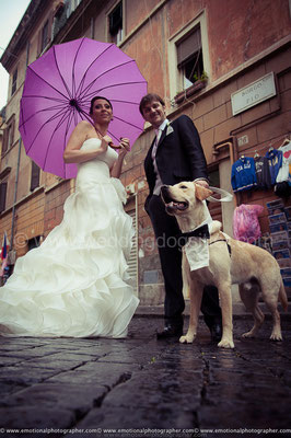 SPOSI CON IL CANE A ROMA WEDDING DOG