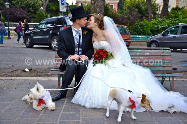 MATRIMONIO WEDDING DOG SITTER TIVOLI