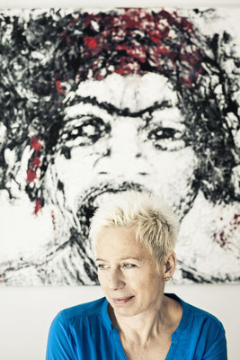 image shoot for Elzbieta Sieber, painter