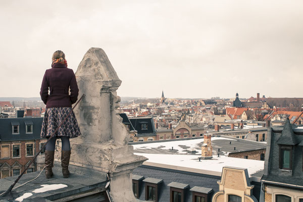 on the rooftops of Halle/Saale