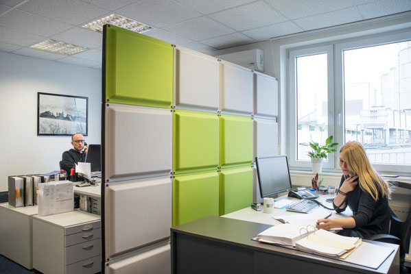 Businessfoto, Büroraum / Kunde DFA Bielefeld GmbH / #Businessfoto # Schallschutzwände #Bielefelder Fotograf