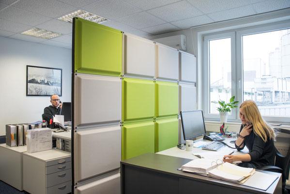 Businessfoto, Büroraum / Kunde DFA Bielefeld GmbH / #Businessfoto # Schallschutzwände #Bielefelder Fotograf #Architekturfoto