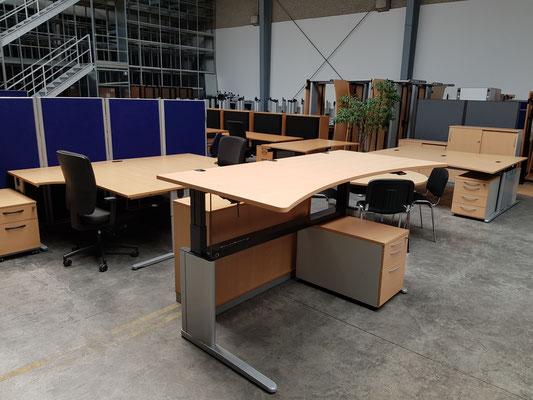 Schreibtisch höhenverstellbar gebraucht König & Neurath gebrauchte Büromöbel