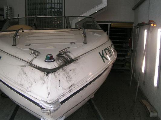 Das Motorboot nach der Saison