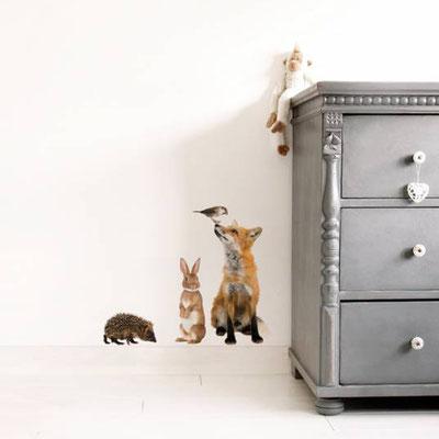 Wandsticker / Wandtattoo Waldtiere fürs Kinderzimmer