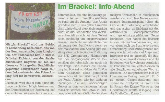 Cronenberger Anzeiger 25.08.2015