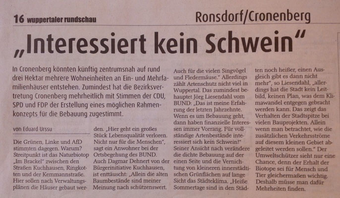 Wuppertaler Rundschau 29.07.2015
