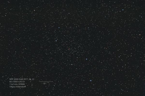 "NGC6940, Telskop BorenSimon 8"" f3.6, Kamera CANON 700D (mod)+LPS-D1"