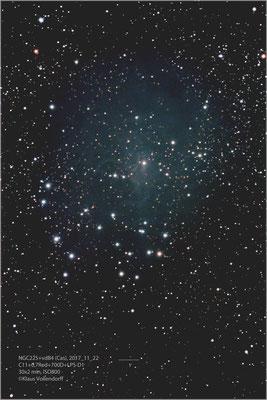 NGC225+vdB4, C11+Reducer 0.7, 700D+LPS-D1