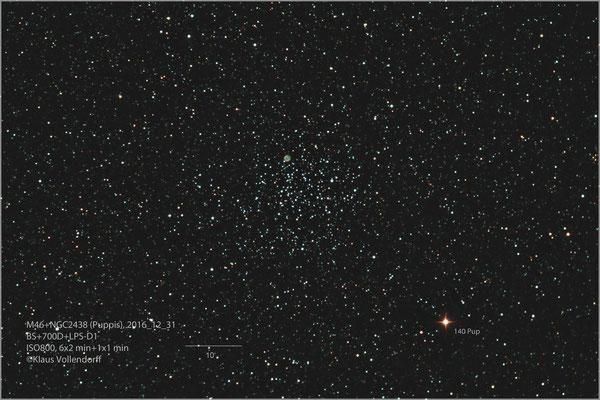 "M46 mit planetarischem Nebel NGC2438, BorenSimon 8""f3.6, 700D+LPS-D1"