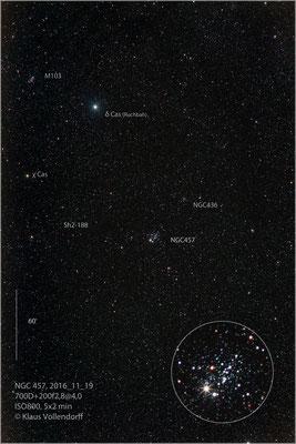 NGC457 mit 200f2.8@4.0, 700D+LPS-D1