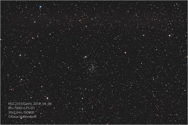 """NGC2355 mit BorenSimon 8""""f3.6, 700D+LPS-D1"""