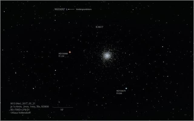 """M13=NGC6205 mit BorenSimon 8""""f3.6, 700D+LPS-D1"""