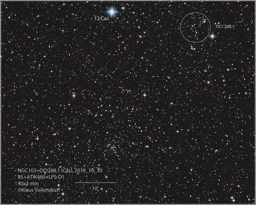 """NGC103+OCI 288.1 mit BorenSimon 8""""f3.6, ATIK460EXc+LPS-D1"""