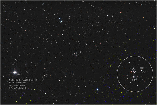 """NGC2129 mit BorenSimon 8""""f3.6, 700D+LPS-D1"""