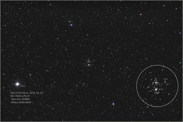 """NGC2129 mit BorenSimon 8""""f3.6, 700D (mod)+LPS-D1"""