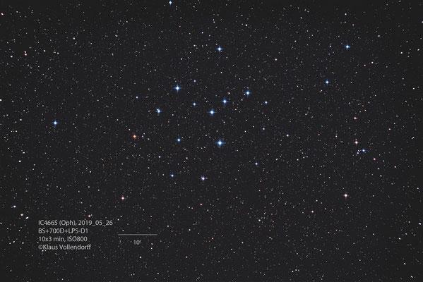 "IC4665, Teleskop BorenSomon 8""f3.6, Kamera CANON 700D(mod)+LPS-D1"
