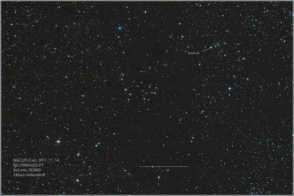 "NGC225+Stock24 mit BorenSimon 8""f3.6, 700D+LPS-D1"