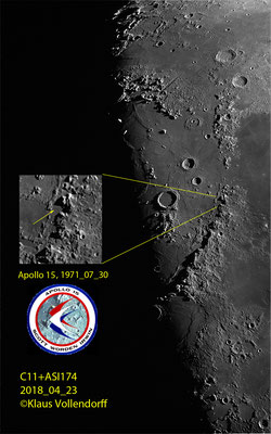 Landeplatz Apollo 15: 1971_07_30, Scott (Kommandant), Irwin, Worden