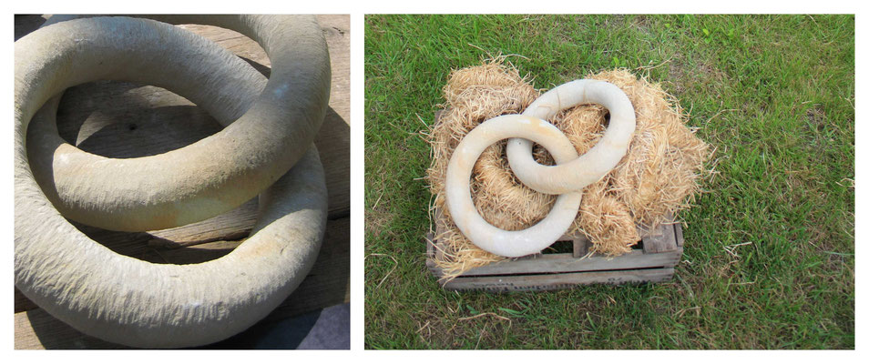 Ringe - zwei Objekte aus einem Stück Stein - Seeberger Sandstein