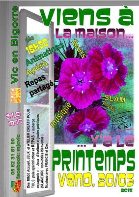 15/03/20 VàlMy'à le Printemps des fleurs et des poètes!
