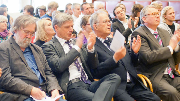 Dr. Kajo Schukalla, H.-Christian Behrens, Wolfgang Fiegenbaum (v. l.).