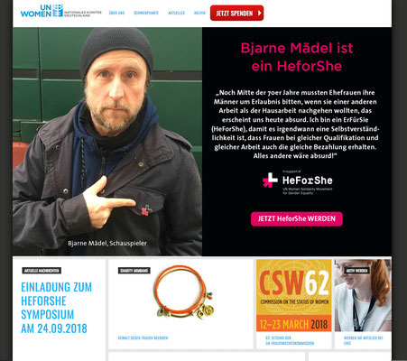 UN Women heforshe Kampagne - Bjarne Mädel, Startbanner