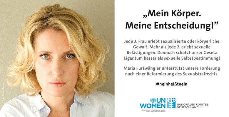 UN Women - #neinheißtnein Kampagne Maria Furtwängler, Startbanner