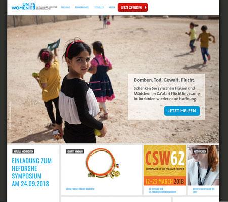 UN Women Spendenaktion Syrien, Startbanner
