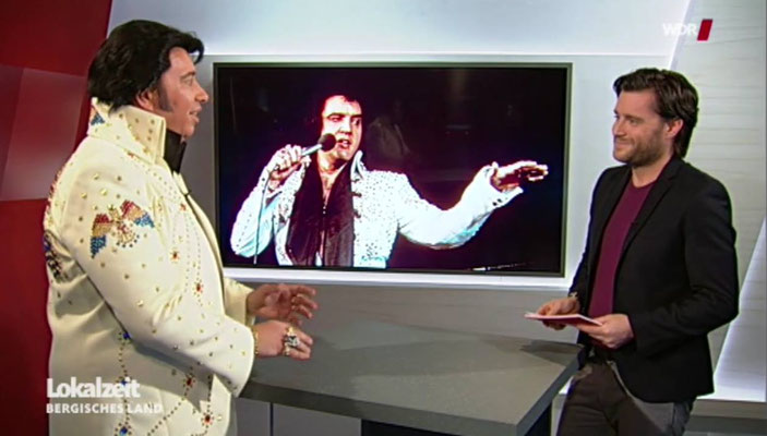 Elvis Presley Double Imitator Tribute Sänger Artist King Eddy Meist gebuchter Künstler WDR Lokalzeit