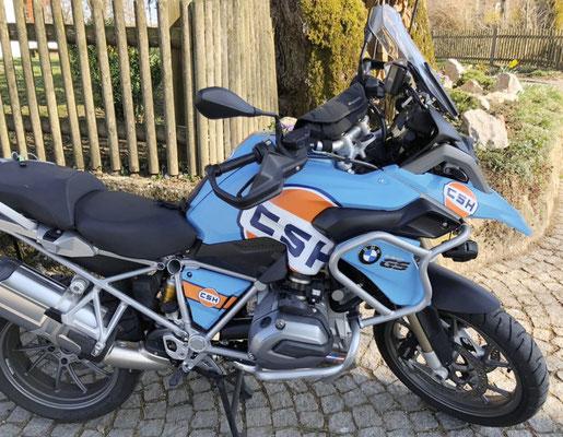 Fuer K50 LC: Orange-Blue - Keine Aufkleber aber Carwrap-Folie fuer BMW R1200GS K25 und K50 K51 LC normal und Adventure