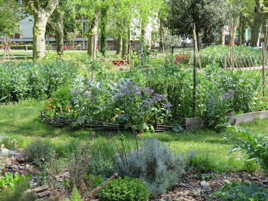 Le jardin Villa Pia installé dans le parc des Dames de la foi, dans le quartier saint -Genès