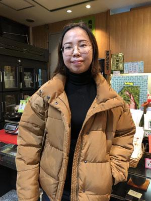 中国からのお客様  (Ms.HeYongPingさん)