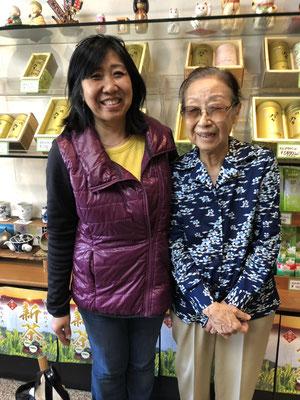 アメリカとインドネシアからのお客様(Ms.Eimi&Ms.Terukoさん)