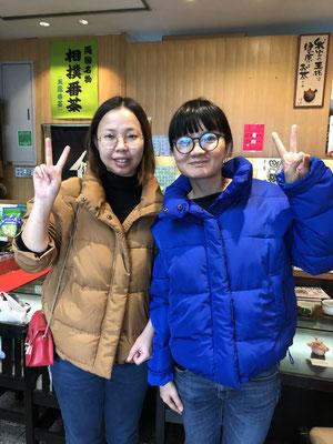 中国からのお客様  (Ms.HeYongPingさんとMs.ChenWenさん)