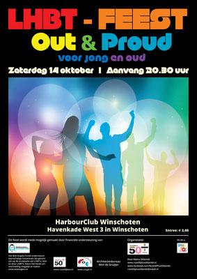 Poster LHBT-feest 14 oktober 2017