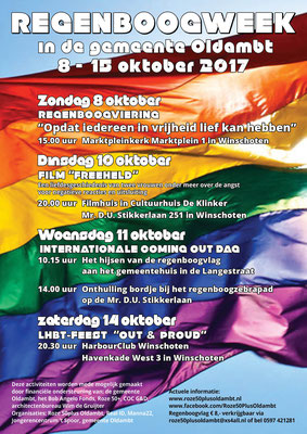 Flyer Regenboogweek 8-15 oktober 2017